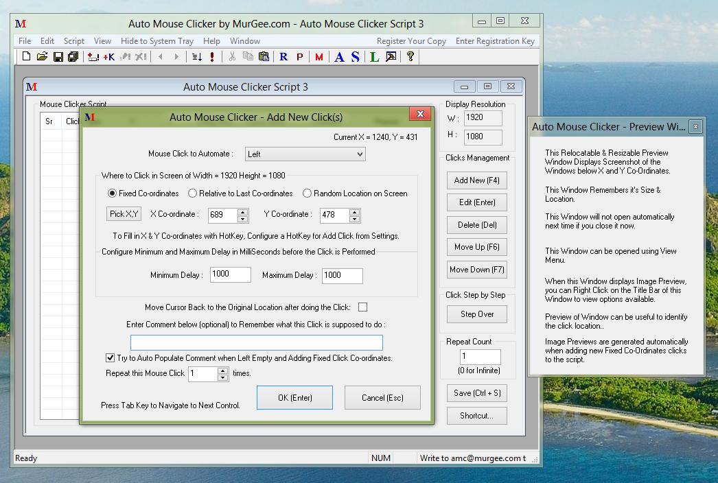 Add Mouse Click to Auto Mouse Clicker Script