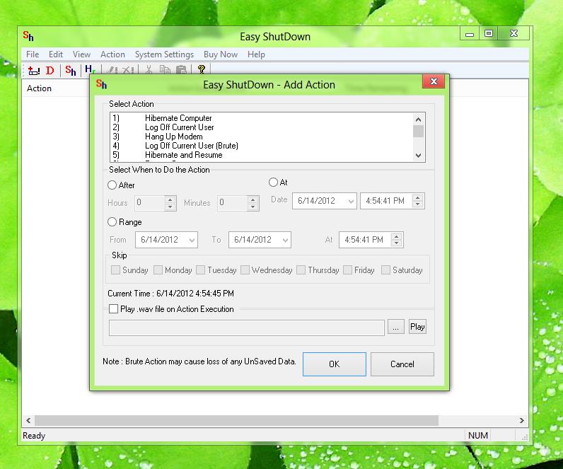 Schedule Windows 8 Shutdown with Easy Shutdown Software