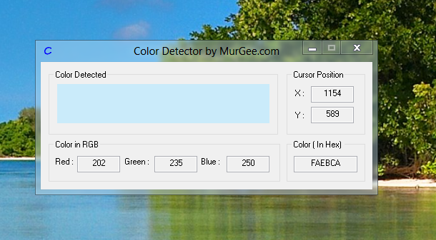 Software Screenshot on Windows to Pick Screen Pixel Color and Mouse Cursor Location