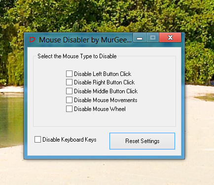 Disable Selective Mouse Clicks and Keyboard Keys on Windows 8