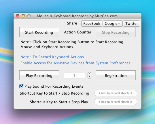 Mouse Recorder for Apple's Macintosh