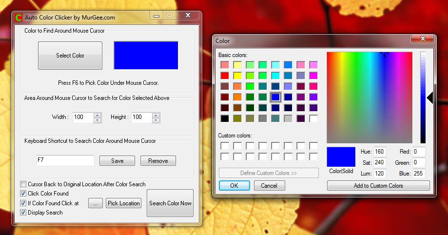 Color Clicker Bot | Software Screenshots