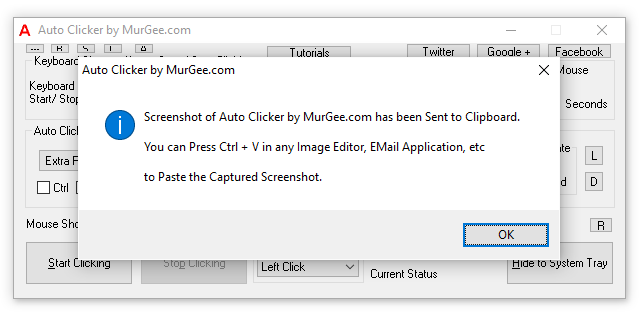 Capture Screenshot of Auto Clicker