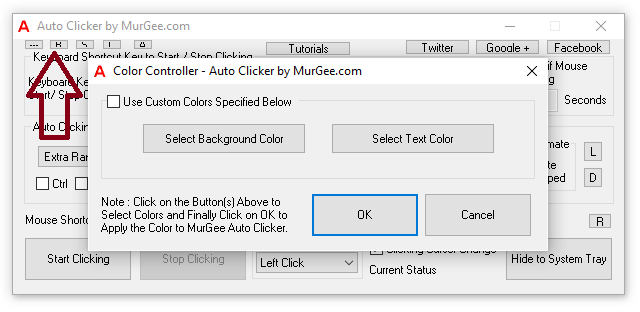 Change Color of Auto Clicker