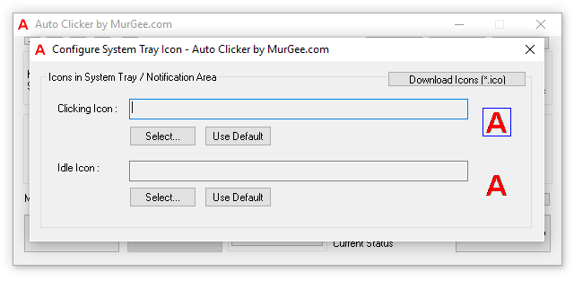 Configure Notification Tray Icon of Auto Clicker