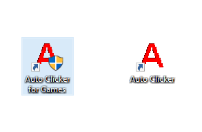 Desktop Shortcut of Auto Clicker for Games