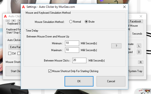 Configure Time Delay between Mouse Press and Mouse Release for Automating single Mouse Click