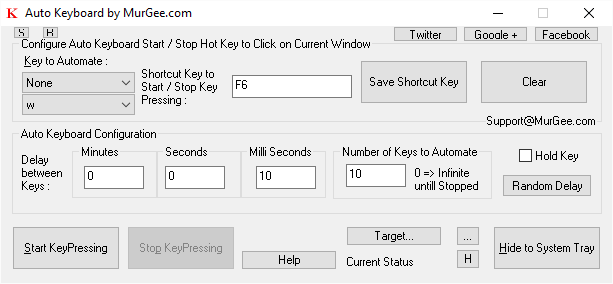 Press a Single Keyboard Key Fast with Auto Keyboard